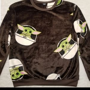 Baby Yoda Women's Sweatshirt sz Small